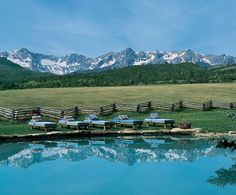 Ralph Lauren Colorado Ranch. The pool with view, just off the main lodge.