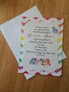 Mi pequeño Pony cumpleaños invitación