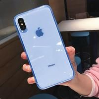 Fashion colorful Transparent Anti-shock Frame Phone Case For iPhone X XS XR XS Max 8 7 6 Plus Soft TPU Protection Back Cover - first-sellers Iphone 5s, Iphone 8 Plus, Coque Iphone 6, Iphone Phone Cases, Iphone Case Covers, Iphone Ringtone, Iphone Watch, Cool Iphone Cases, Iphone Charger