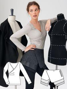 Das Oberteil muss ich mir nähen, das ist super schön! Modern Minimalist: 11 New Patterns – Sewing Blog | BurdaStyle.com