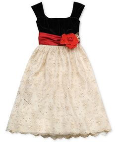 Rare Editions Girls Dress, Girls Traditional Holiday Dress - Kids Girls Dresses - Macy's