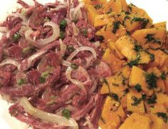 Carne seca com abóbora Beef, Omelettes, Beef Jerky, Savoury Dishes, Rock, Eggs, Pisces, Gastronomia, Meals