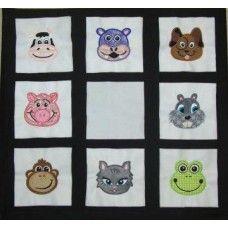 Applique Animal Faces Set