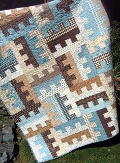 Key to my Heart QUILT PATTERN....One Jelly Roll, easy and quick, PDF version