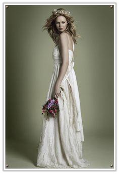 Veiled Haven - UK Wedding Inspiration Blog: vintage 1970s : ethereal wedding dresses