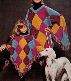 ViNTAGE 1960's ReTRO WOMeN'S & CHiLDS SQuARED by Crafting4Ever2013, $2.00 - INSTANT DOWNLOAD KNITTING PATTERN