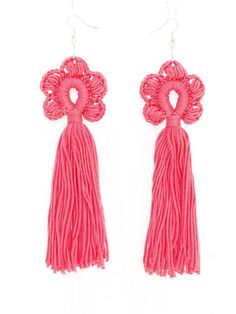 These cute tassel earrings make any ordinary outfit feel like a celebration. Perfect for a festival look or boho themed wedding party. Bold and chunky, but lightweight. Made of cotton yarn. Carefully handcrafted with attention to details. Length: appox. 5 (12.5 cm) without hooks.  Ready to ship. Please allow 1-3 business days before shipping.  Real colors may slightly differ from their appearance on your display, as it depends on many factors, including light character, surrounding objects…