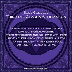 New Year 7 Days of Chakra Balancing – Day 6: Third Eye Chakra | Sage Goddess