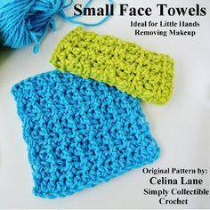 Tastefully Tiny Towels/ use as dishcloths or towels for little hands, take off your make-up at end of the day/  beginner / FREE CROCHET pattern