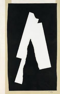 artnet Galleries: Black Sounds - 1983-4  by Robert Motherwell from Zane Bennett Contemporary Art
