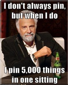 I don't always pin but when I do, I pin 5,000 things in one sitting…   http://www.Funnybundle.com