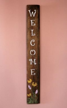 Reclaimed Barnwood Welcome Sign by 6NorthDesign on Etsy