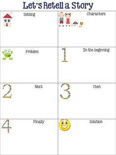 Retelling a Story...Not printable but can save as a document and then print.