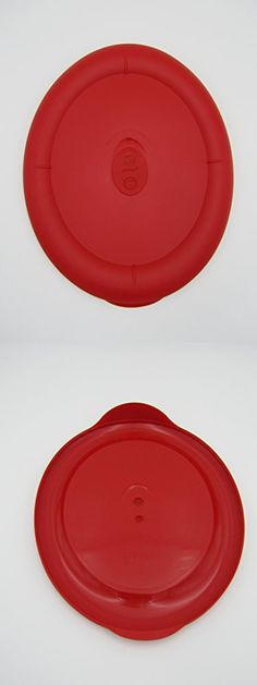 Pyrex Storage Deluxe Red 3-quart Oval Plastic Lid