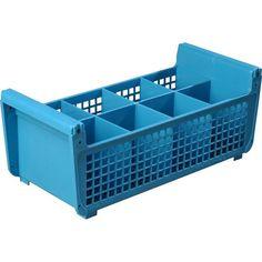 8 Compartment Plastic Flatware Basket (C32P1-14)