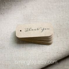 Miniature Thank You Gift Tags on Thick Kraft Cardstock