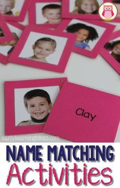 Make name matching cards with the templates. Includes many ideas for using the name matching cards for sorting, letter recognition, etc.