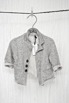 Album Di Famiglia simple comfortable baby jacket in cotton fleece