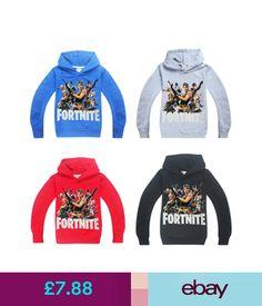 Kids Boys Fortnite Sweatshirts Pullover Cartoon Hoodie+Trousers Cotton T-Shirt