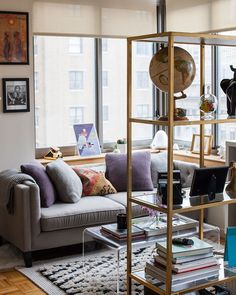 Molly Torres' New York City studio is the perfect blend of feminine and masculine. From fresh flowers and dress forms toher boyfrie...