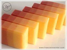 Annatto-Rose - gradient handmade soap