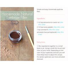 #homemade #natural #eyebrow filler #diy #chemicle free #easy #crafting