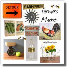 Happy Farmers Market Week #vintageunscripted #vintageblog #vintage #vintagelifestyle