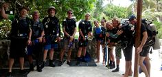 Say hello to our new marine conservation volunteers in Pez Maya, Mexico!  #gvi #volunteer #scubalife