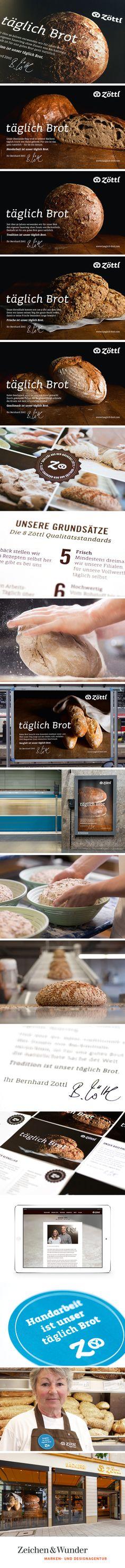 """BÄCKEREI ZÖTTL / Imagekampagne """"täglich Brot"""" / #Kampagne #Bauernlaib / by Zeichen & Wunder, München"""