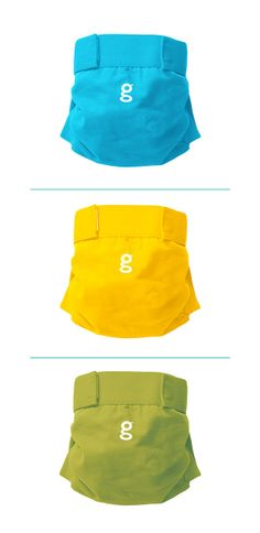 Check out this new twist in reusable diapers by gDiapers. Covers are cloth, with disposable inserts. Smart and convenient!