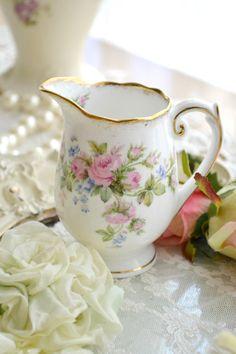 Lovely Vintage Creamer in the 'Moss Rose' Pattern by Jenneliserose