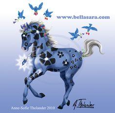Bella Sunflowers - Bluebelle by MiniBaah on DeviantArt Magical Creatures, Giraffe, Moose Art, Horses, Deviantart, Fantasy, Sunflowers, Illustration, Animals