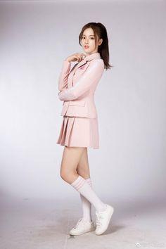 Yang Chaoyue Rocket Girls Pretty Asian Girl, Girls In Mini Skirts, Asia Girl, School Uniform, Korean Fashion, High Neck Dress, Celebrities, Beauty, Collection