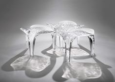 Zaha Hadid extends Liquid Glacial furniture collection.