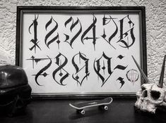 No photo description. – Graffiti World Chicano Tattoos Lettering, Tattoo Lettering Design, Graffiti Lettering Fonts, Tattoo Script, Calligraphy Tattoo, Number Tattoo Fonts, Tattoo Fonts Alphabet, Hand Lettering Alphabet, Graffiti Alphabet