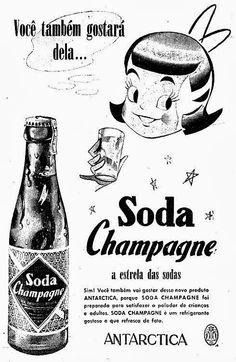 Champagne virou Limonada da Antártica em 1954