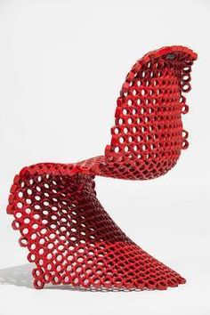 Leo Capote, 'Panton Chair Bolts,' Museum of Arts and Design Art Furniture, Unusual Furniture, Classic Furniture, Furniture Design, Garage Furniture, Toddler Bean Bag Chair, Living Room Chairs, Dining Chairs, Pedicure Chairs For Sale