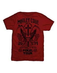 Motley Crue Final Tour Mens Premium Soft T-Shirt - Guaranteed Authentic.  Fast Shipping.