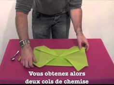 Pliage de serviette en forme de Bonhomme - YouTube