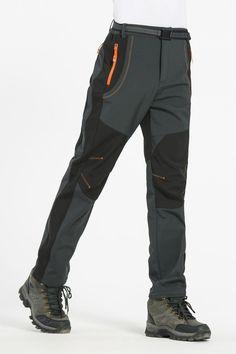 Softshell Thermal Hiking Pants Trousers Waterproof Windproof For Men/Women