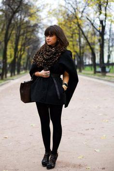 Maternity Street Style: Miroslava Duma-- the editor of Harper's Bazaar Russia