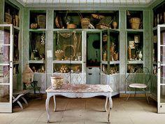 Garden Room at Oak Spring Farms, Upperville, Virginia, estate of Bunny Mellon.