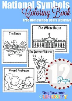 FREE National Symbols Coloring Book - Homeschool Giveaways