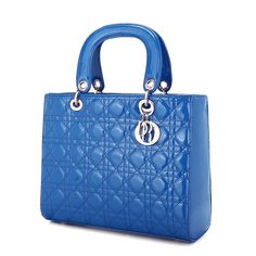 JSR Retro Blue Leather Handbag - Large Size [170383-06] - $31.00
