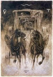 Luis Royo - The Labyrinth Tarot - The Chariot