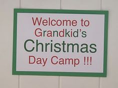 Grandma Christmas day camp...a day of Christmas crafts, snacks, and stories...such a cute tradition idea! @Susan Avicola  @Penny Chapman