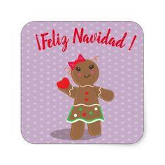 """Feliz Navidad"" Spanish Merry Christmas Sticker - craft supplies diy custom design supply special"