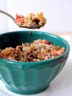 One of my favorite breakfasts // Strawberry Banana Breakfast Quinoa // ambitiouskitchen.com