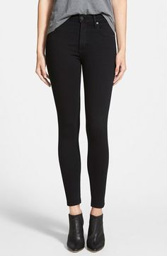 Free shipping and returns on Citizens of Humanity \'Rocket\' Skinny Jeans (Axel) (Petite) at Nordstrom.com. Tonal topstitching and gleaming silvertone hardware enhance the sleek factor of black jeans cut from Japanese denim in a lithe, ankle-brushing silhouette.