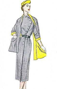 1950s Dress Pattern Simplicity 8380 Kimono Sleeve by paneenjerez, $30.00